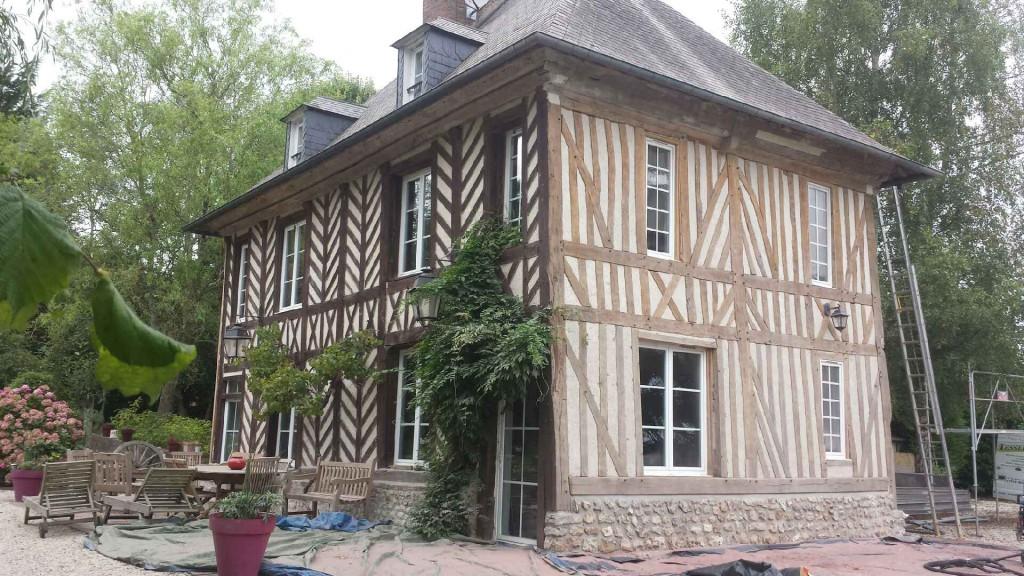 Guillaume tessel r novation de maison normande dans l 39 eure 27 - Plan maison normande ...