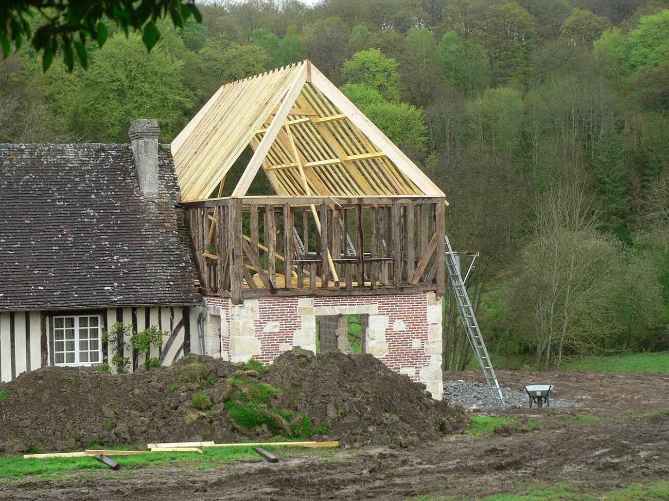 Extension construction maison normande eure 27 - Extension maison normande ...