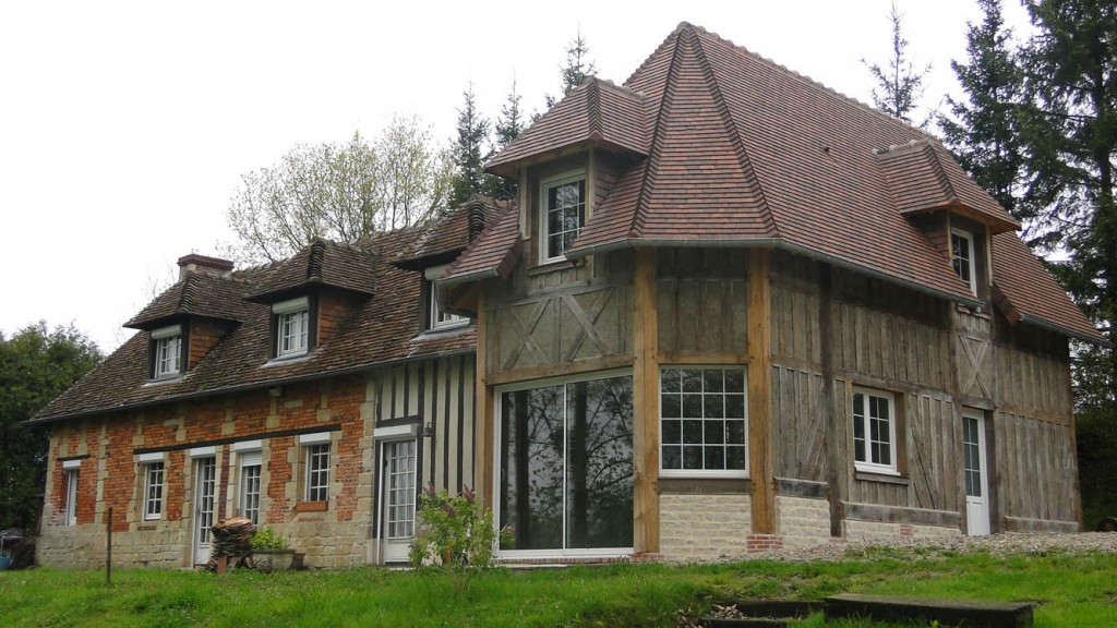 Guillaume tessel extension et agrandissement de maison for Maison traditionnelle normande