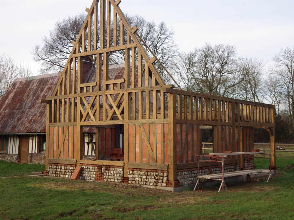 Agrandissement maison ossature bois normandie construction maison normande eure 27 for Construction maison en bois haute normandie
