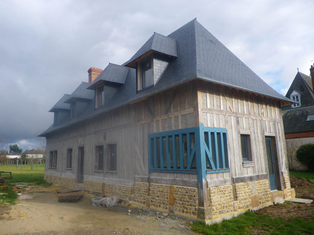 R novation maison colombage normandie construction for Constructeur renovation maison