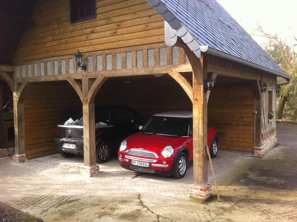 R novation traditionnelle ossature bois normandie for Maison ossature bois normandie