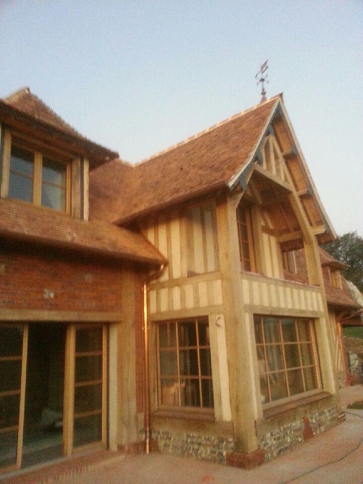 Guillaume tessel constructeur de maison normande dans l for Construction extension maison